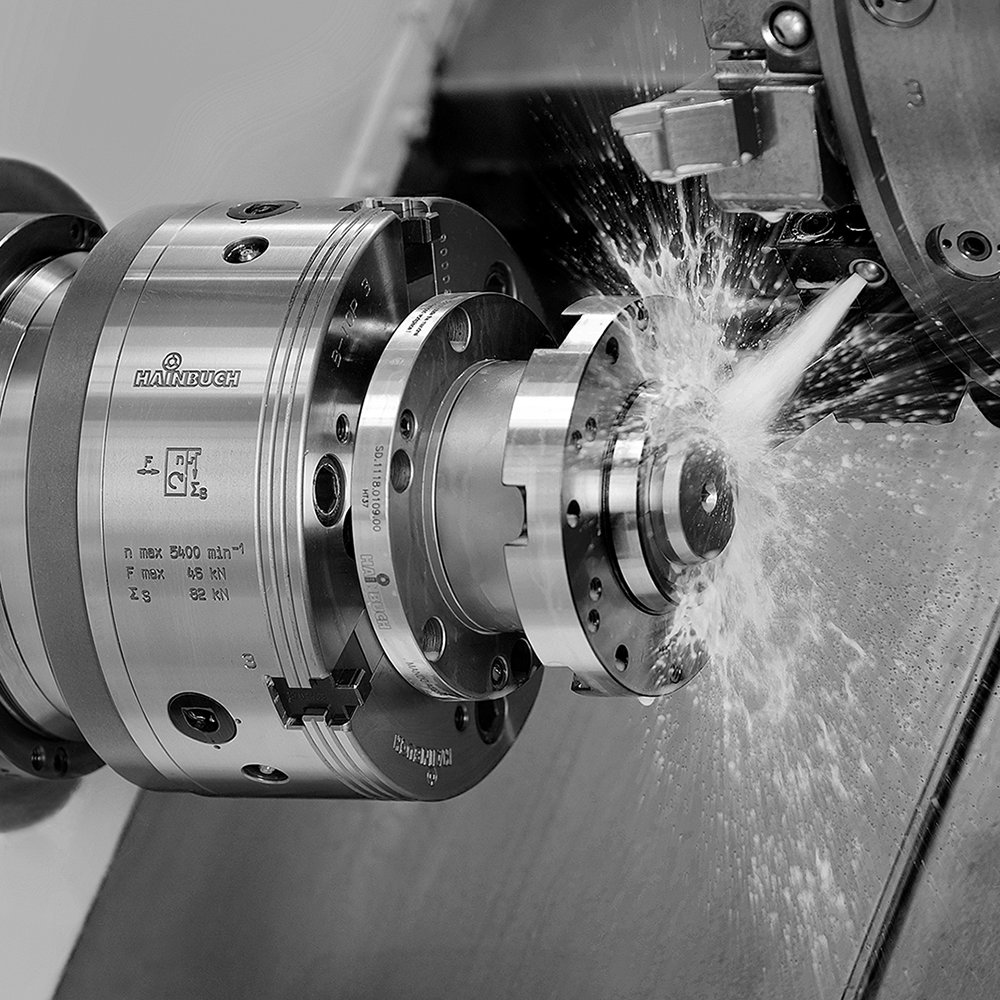 Jaw chuck B-Top3 in use